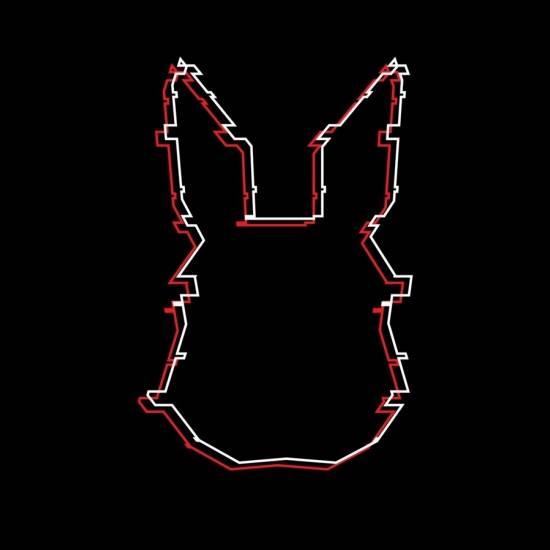 Livestream wit konijn rood konijn